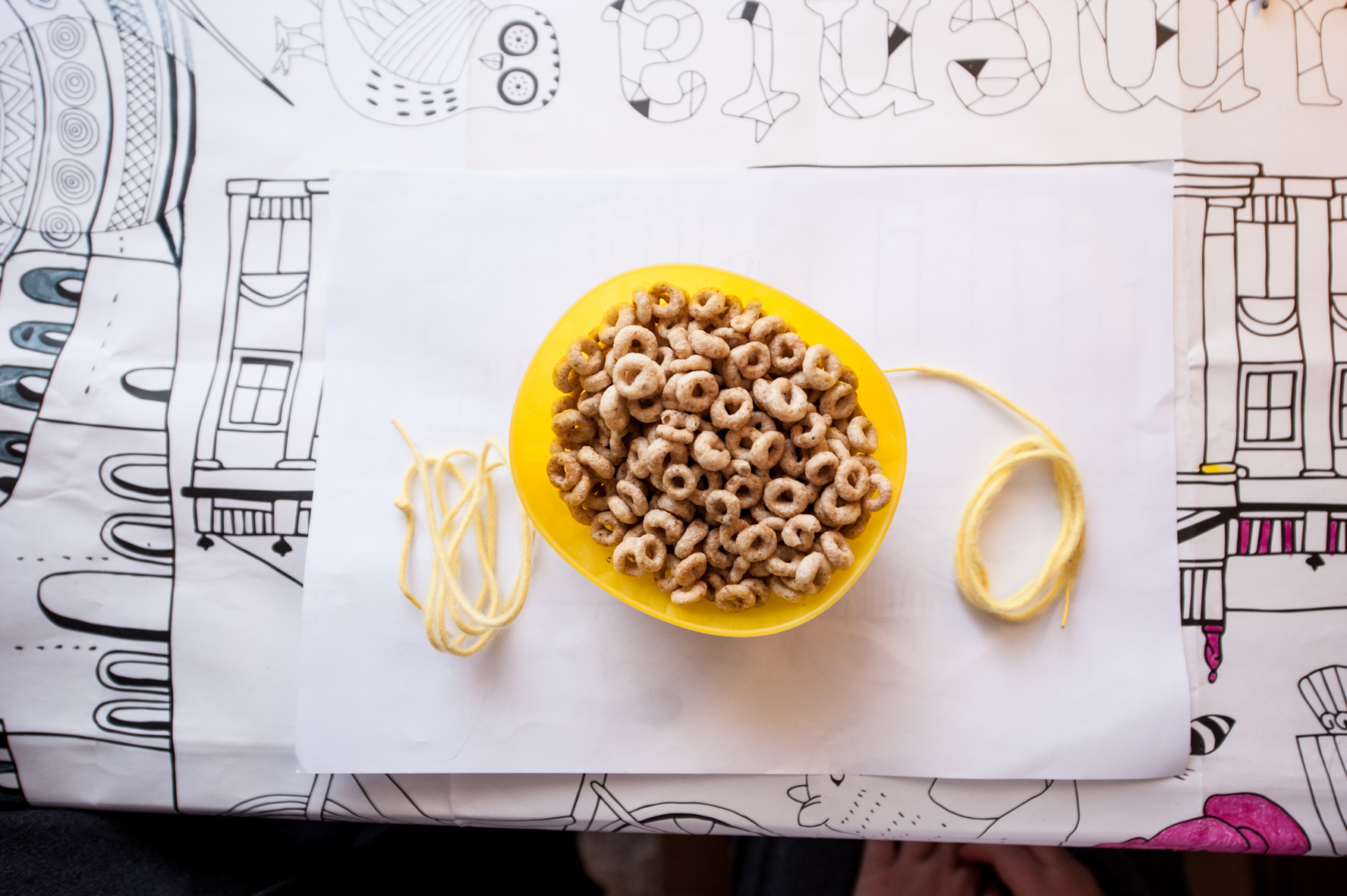 Toddler activities at home - Cheerios