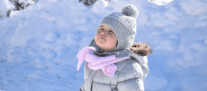 Image of toddler in snow