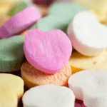 Image of candy hearts fpr half term with toddlers