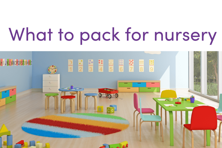 nursery - what to pack