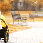 lonely mum pushing buggy